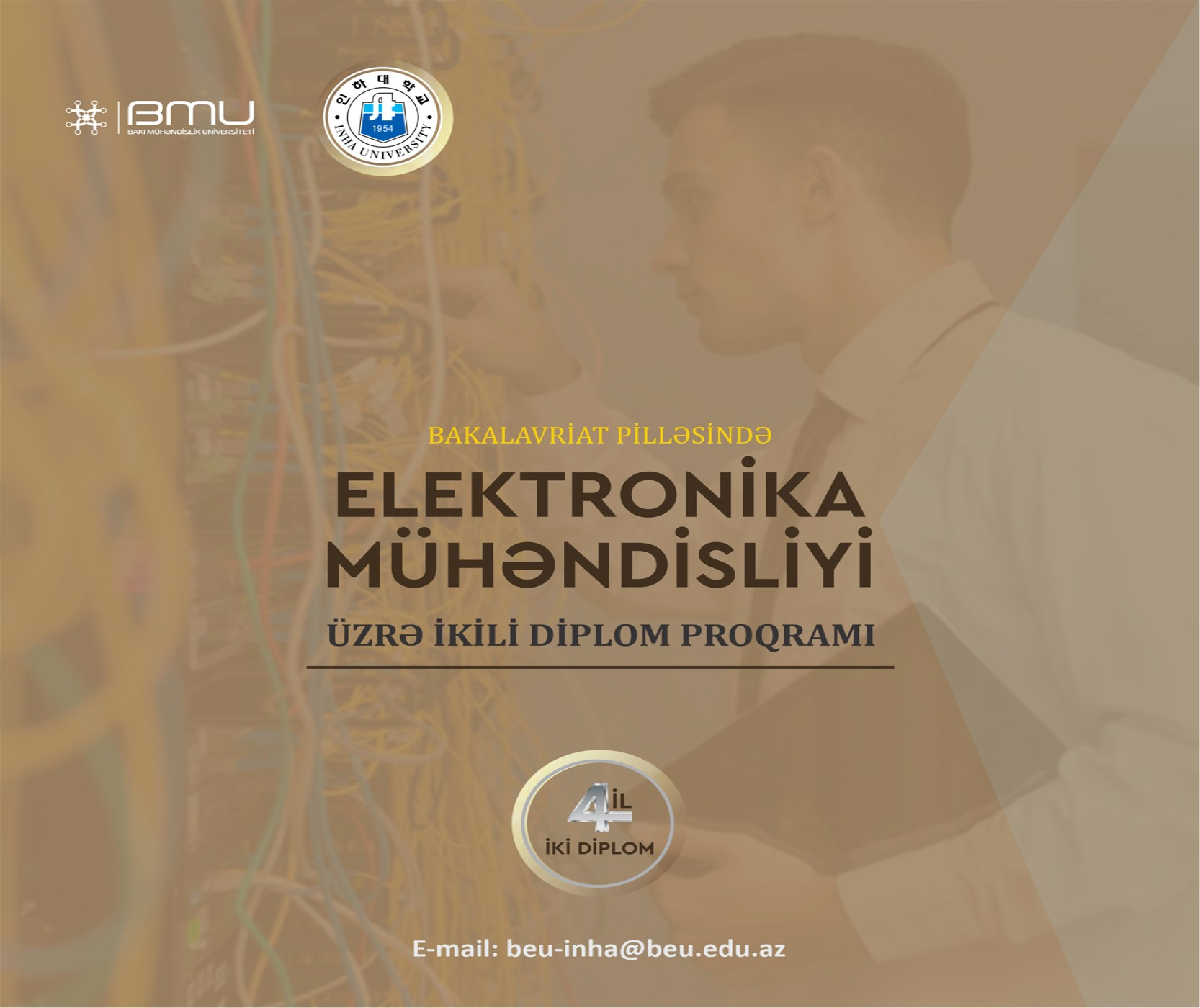 """BMU-İnha ikili diplom proqramında """"Elektronika mühəndisliyi"""" ixtisası üzrə qəbul həyata keçirilir"""