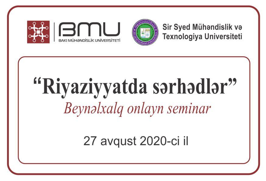 BMU ilə Pakistanın universiteti arasında ilk beynəlxalq onlayn seminar