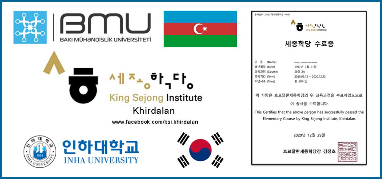 BMU-da Koreya dili kurslarına növbəti sənəd qəbulu başlayıb