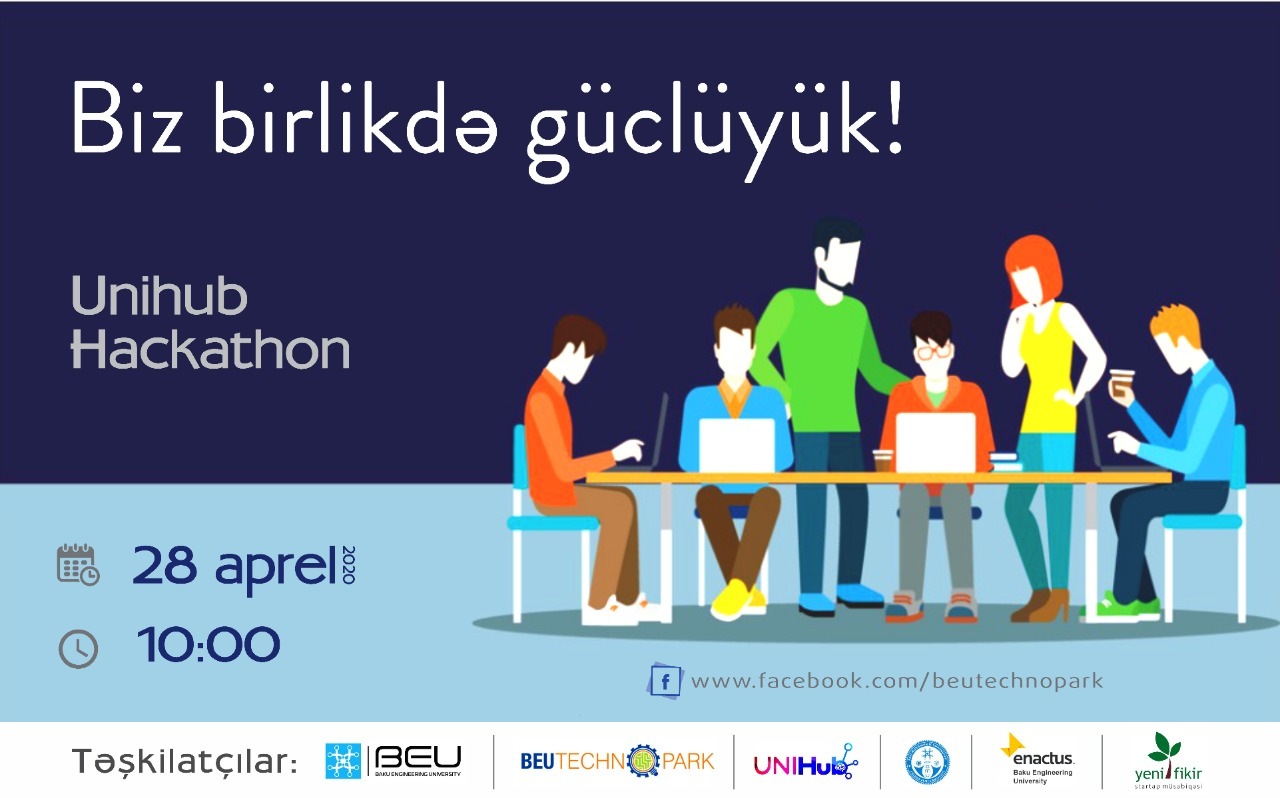 """""""Biz birlikdə güclüyük!"""" adlı UniHub Hackathon yarışması"""