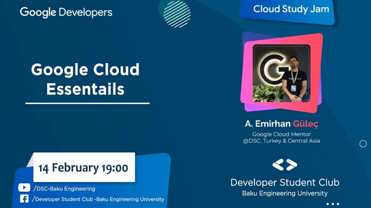 """""""Cloud Study Jam"""" adlı növbəti vebinar keçiriləcək"""