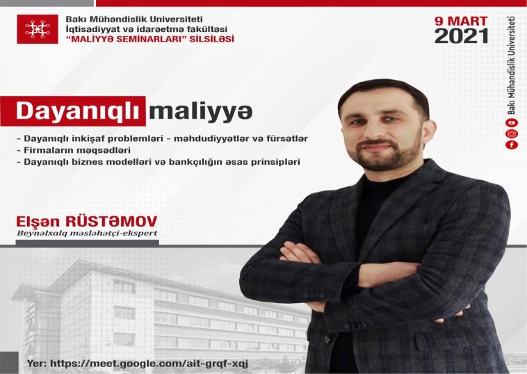"""BMU-da """"Dayanıqlı maliyyə"""" adlı seminar keçiriləcək"""