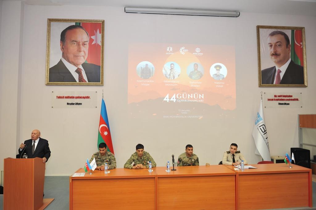"""BMU-da """"44 günün qəhrəmanları"""" layihəsi çərçivəsində qazilərlə görüş keçirilib"""