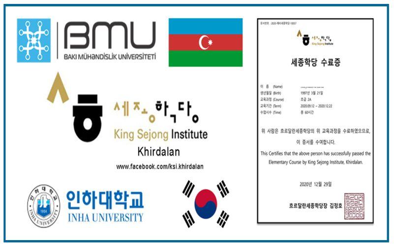 BMU-da Koreya dili kurslarının növbəti mərhələsinə start verilib