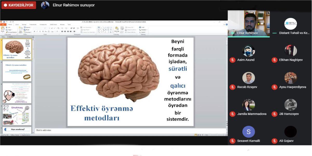 BMU-da müəllim və tələbələr üçün növbəti təlim keçirilib